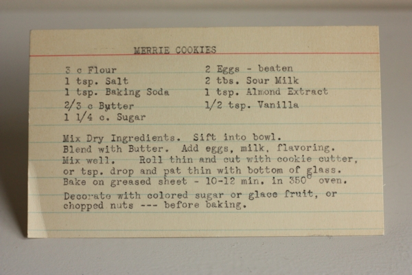Merrie Cookies Recipe #writes4food